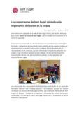 thumbnail of Los comerciantes de Sant Cugat reivindican la importancia del sector en la ciudad