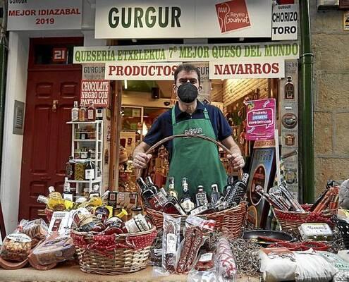 El comercio de Pamplona sale a la calle con sus productos