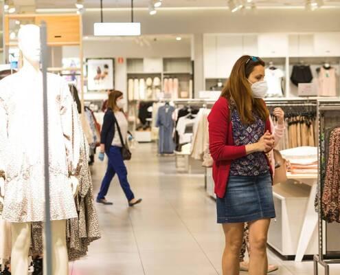 El comercio textil mantiene sus ventas un 40% por debajo de los niveles previos al Covid-19